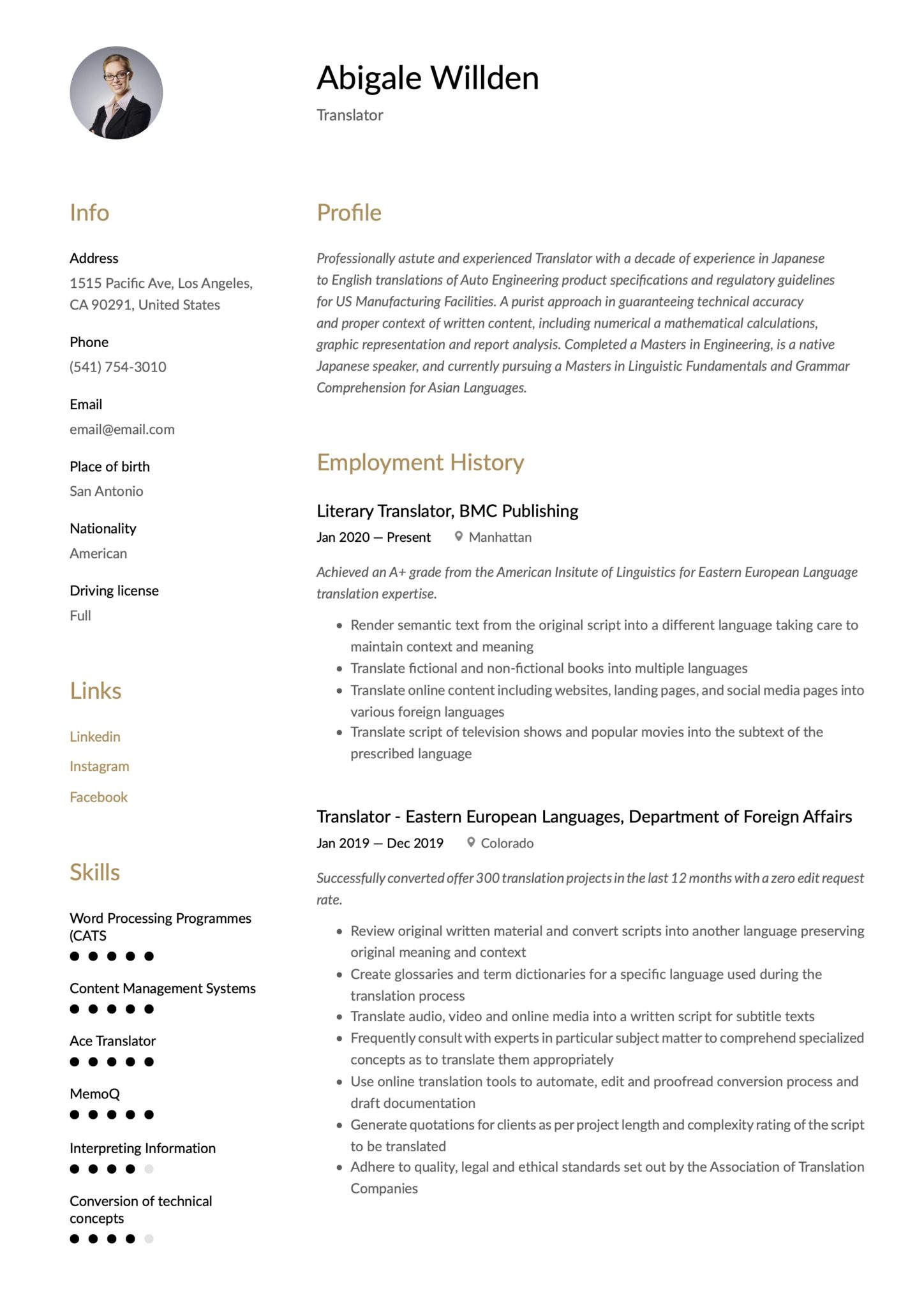 translator resume writing guide templates technical scaled home remodeling account Resume Technical Translator Resume