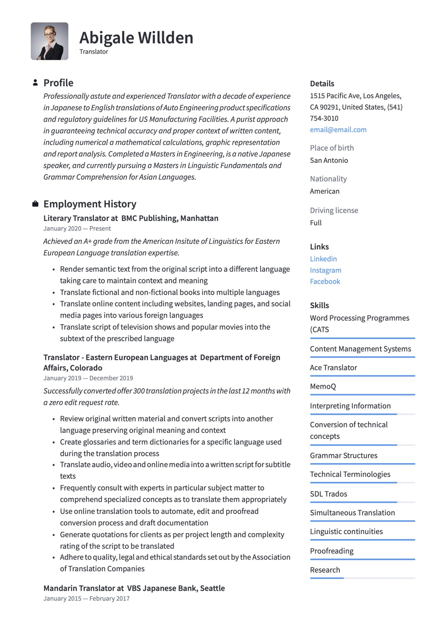 translator resume writing guide templates technical scaled server tasks for spotify home Resume Technical Translator Resume