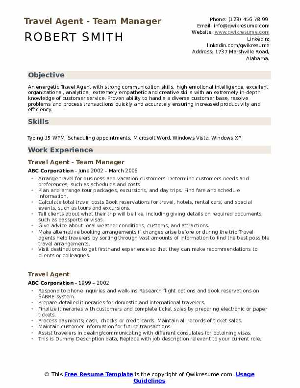 travel agent resume samples qwikresume duties and responsibilities pdf objective examples Resume Travel Agent Duties And Responsibilities Resume