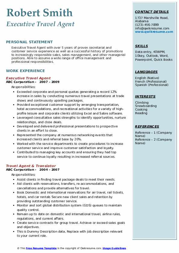 travel agent resume samples qwikresume duties and responsibilities pdf trainings attended Resume Travel Agent Duties And Responsibilities Resume