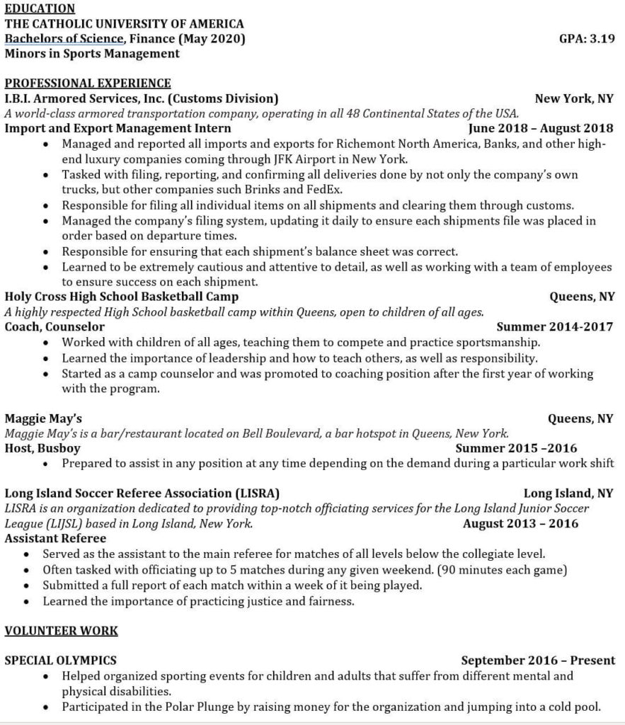 tricks to hack your investment banking resume with no experience estate too long1 Resume Real Estate Investment Banking Resume