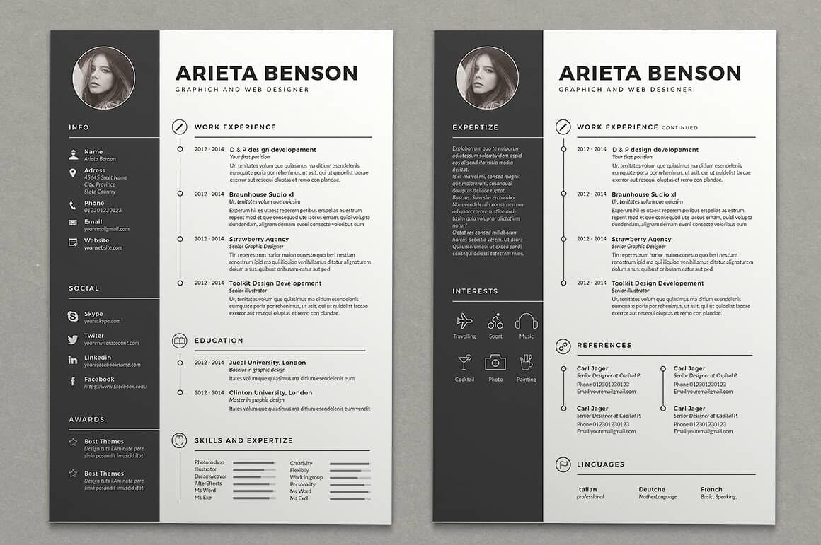 two column resume templates to free included word template strong humber gems creator Resume Word Resume Template Two Column