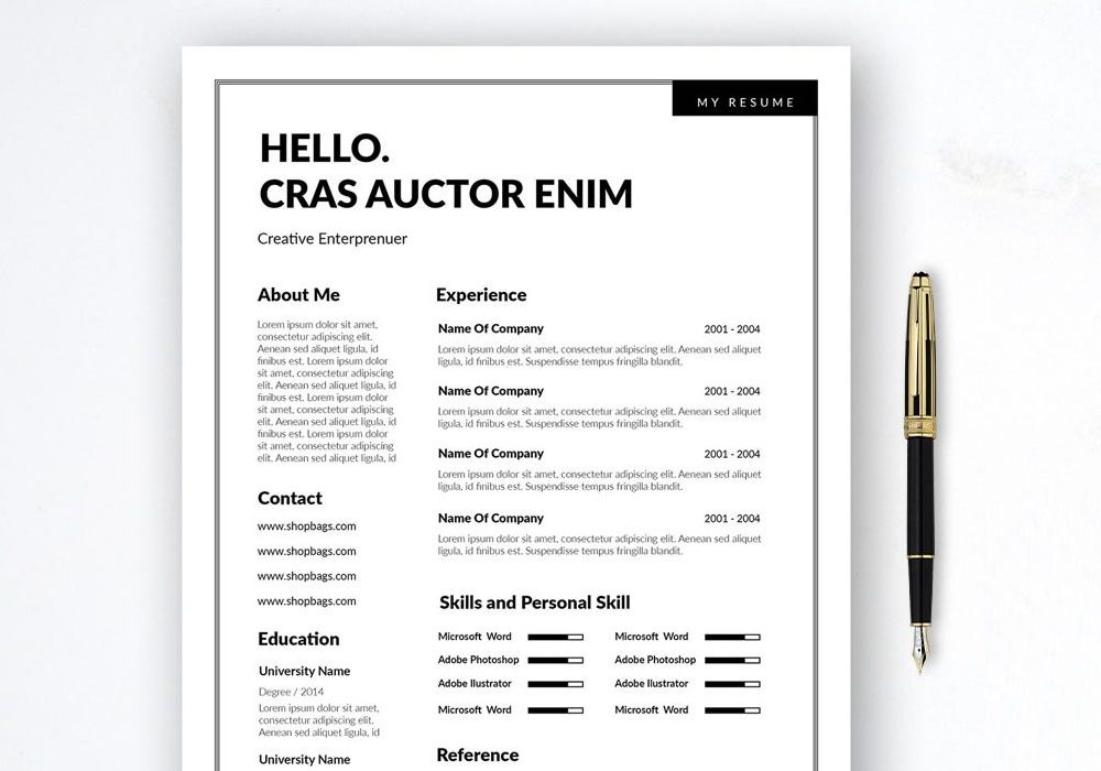 two column simple resume template in multi file format maxresumes word 1000x700 objective Resume Word Resume Template Two Column