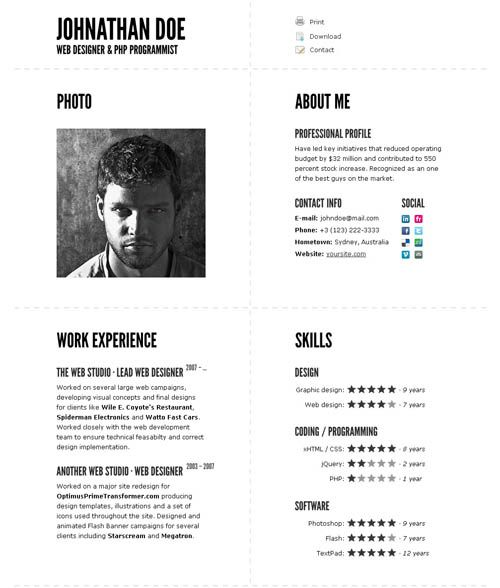 typographic cv impressive resume template is it was created to im templates design Resume Typography Resume Template
