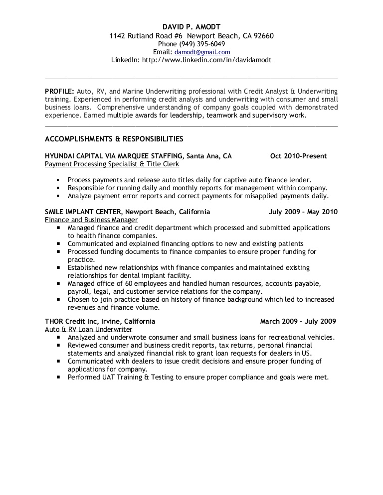 underwriting credit analyst resume payments business underwritingcreditanalystresume Resume Payments Business Analyst Resume