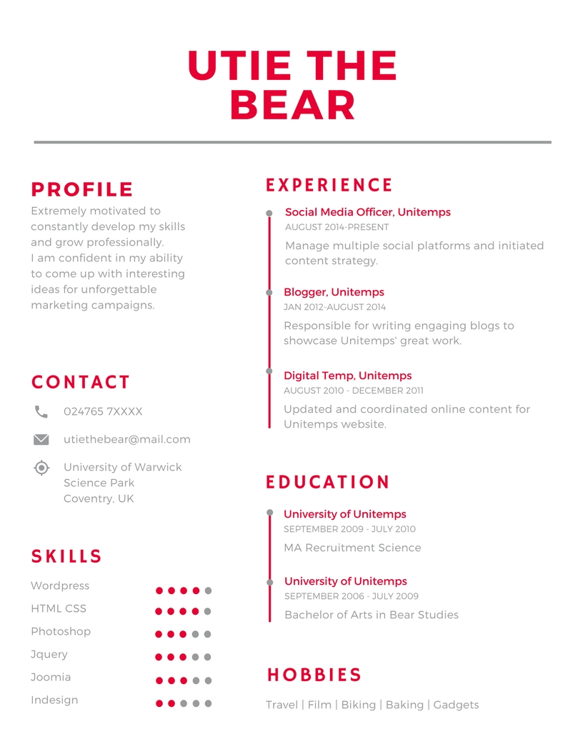 unitemps building the perfect cv utie step by guide make resume final rn template free Resume Make Perfect Resume Step Step