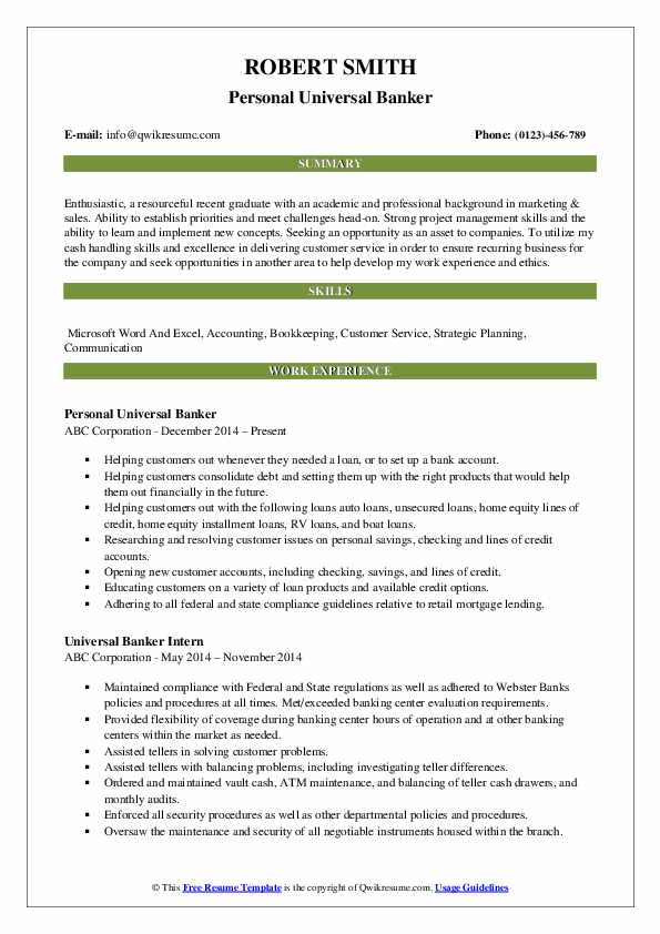 universal banker resume samples qwikresume job description for pdf hardware format Resume Universal Banker Job Description For Resume