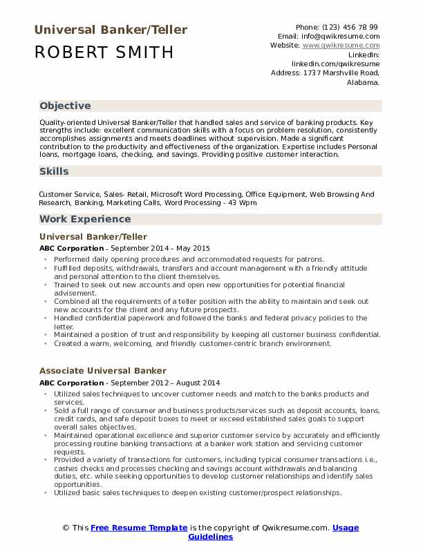 universal banker resume samples qwikresume job description for pdf security guard sample Resume Universal Banker Job Description For Resume