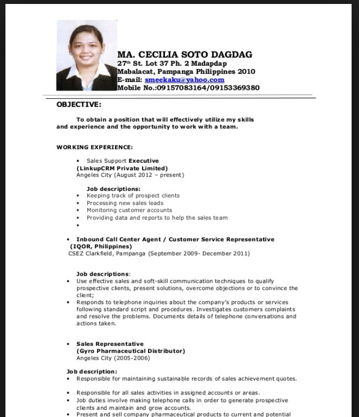 updated resume format sample for cpa fresh graduate template whatsapp computer Resume Sample Resume For Cpa Fresh Graduate