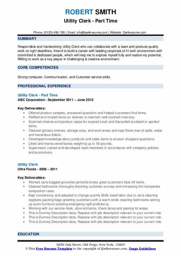 utility clerk resume samples qwikresume words for collaborate pdf server template word Resume Resume Words For Collaborate