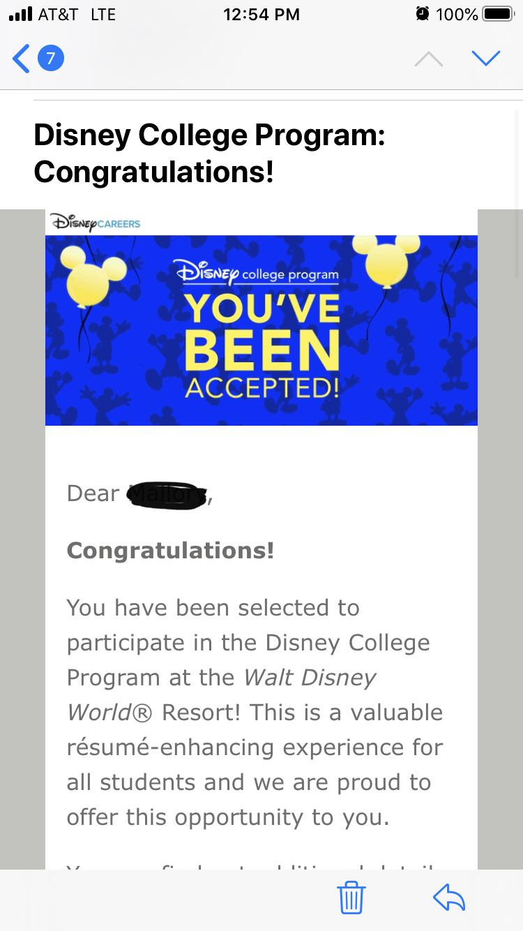 ve been accepted to fall qsfb disneycollegeprogram disney college program resume Resume Disney College Program Qsfb Resume