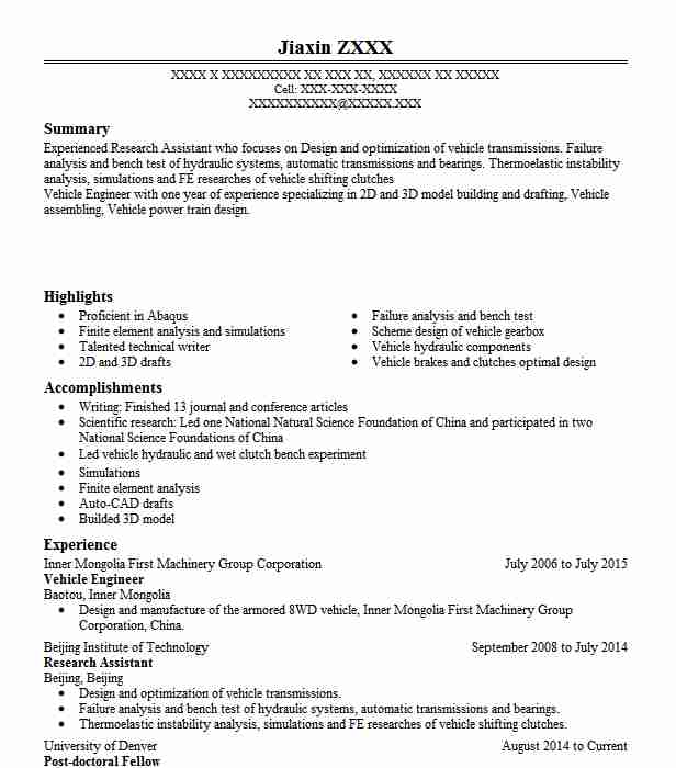 vehicle design engineer resume example bohiyaanam technologies pvt ltd city automobile Resume Automobile Engineer Resume