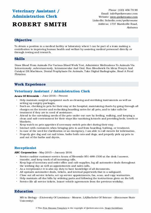 veterinary assistant resume samples qwikresume vet job description pdf awards and Resume Vet Assistant Job Description Resume