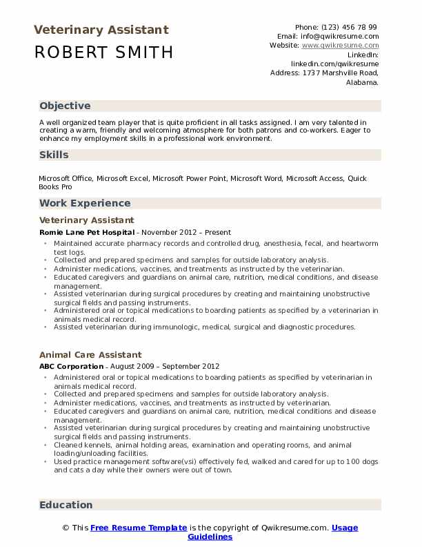 veterinary assistant resume samples qwikresume vet job description pdf hotel front office Resume Vet Assistant Job Description Resume