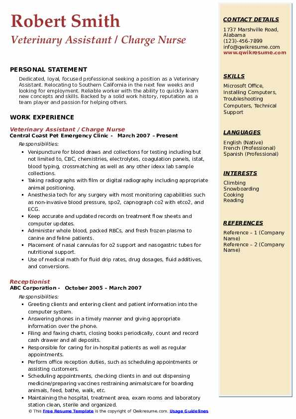 veterinary assistant resume samples qwikresume vet job description pdf mortgage loan Resume Vet Assistant Job Description Resume