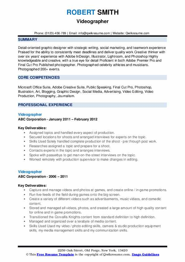 videographer resume samples qwikresume examples pdf credentialing specialist sample front Resume Videographer Resume Examples