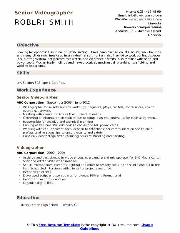 videographer resume samples qwikresume examples pdf mensa on graphic artist email icon Resume Videographer Resume Examples