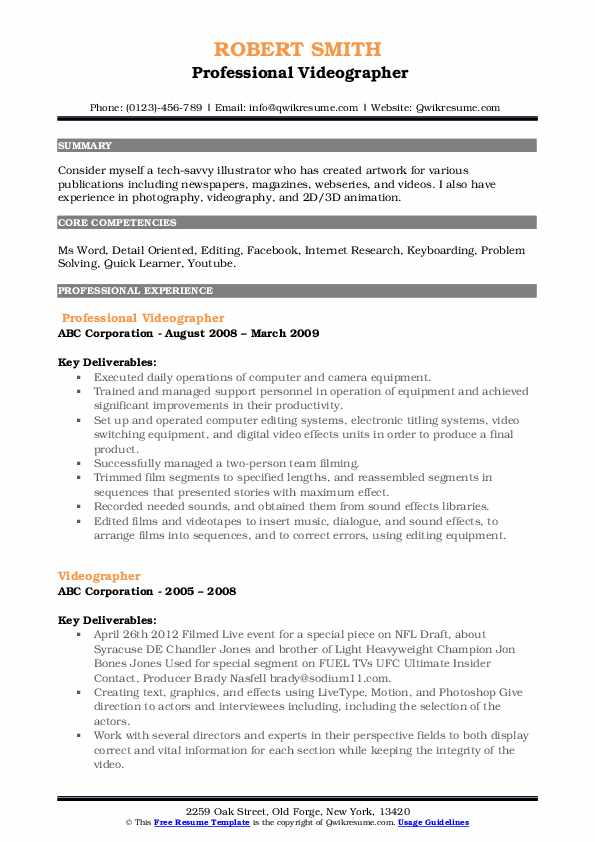 videographer resume samples qwikresume examples pdf patient care associate leasing Resume Videographer Resume Examples