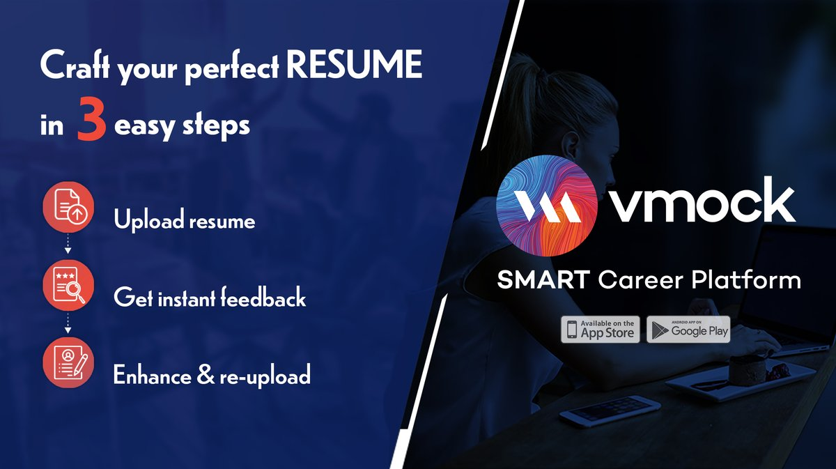 vmock inc on is your recruiter ready it free of errors create perfect resume in no time Resume Vmock Smart Resume Platform