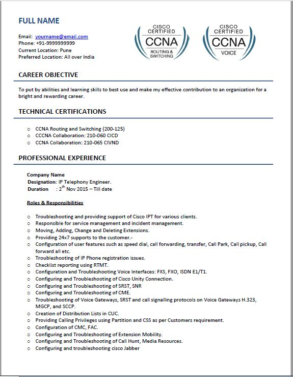 voip resume samples top templates for beginner experienced ip telephony engineer cisco Resume Ip Telephony Engineer Resume