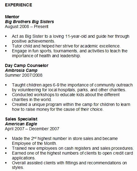 volunteer work examples for resume awesome student experience sample on job nursing or Resume Volunteer Experience Or Leadership Resume Example