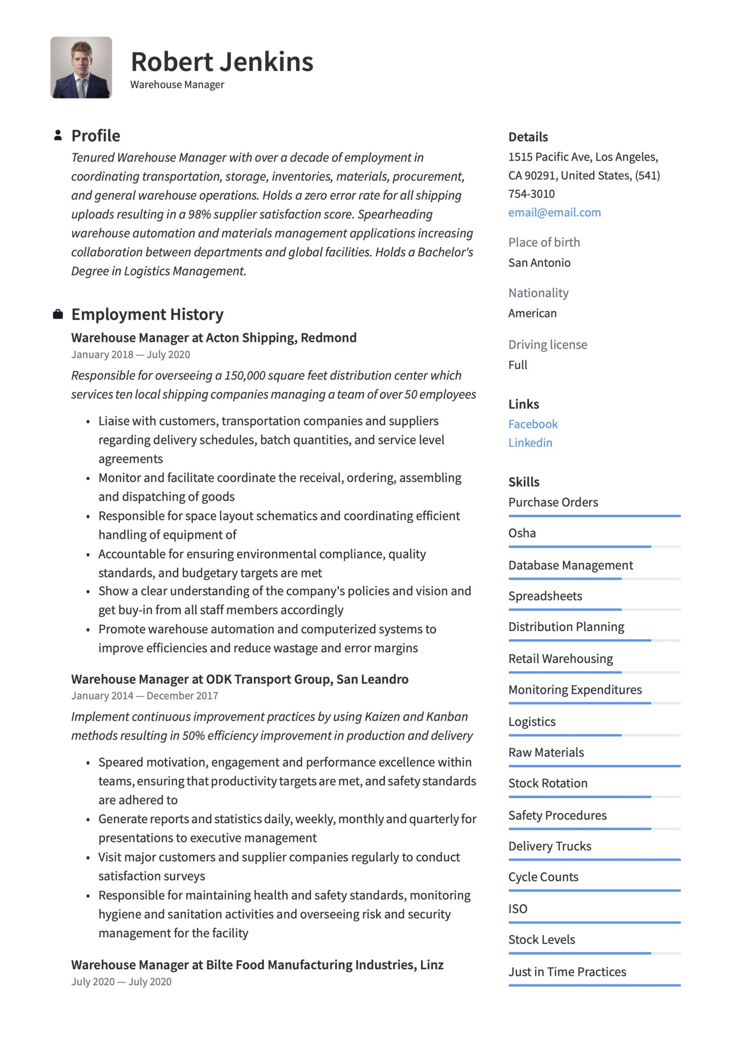 warehouse manager resume writing guide templates management score scaled maker software Resume Management Score Resume