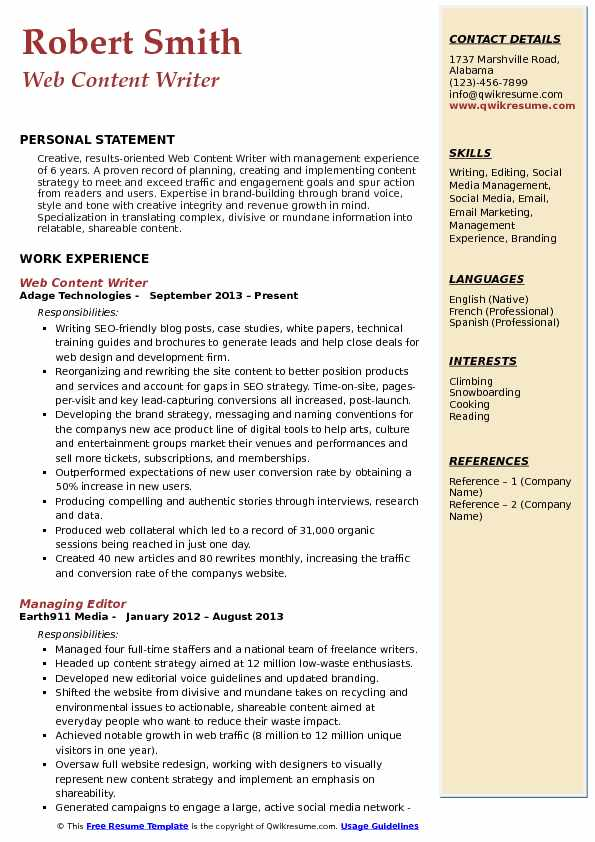 web content writer resume samples qwikresume creative example pdf butcher meat cutter Resume Creative Writer Resume Example