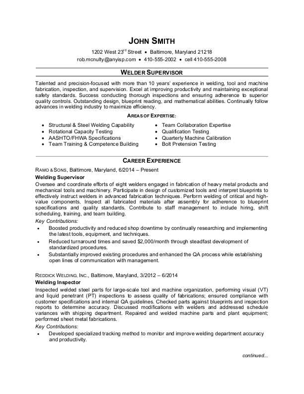 welder supervisor resume sample monster piping delivery boy daycare teacher skills for Resume Piping Supervisor Resume