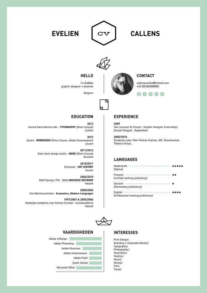 well designed resume examples for your inspiration evelien 723x1024 fashion internship Resume Well Designed Resume Examples