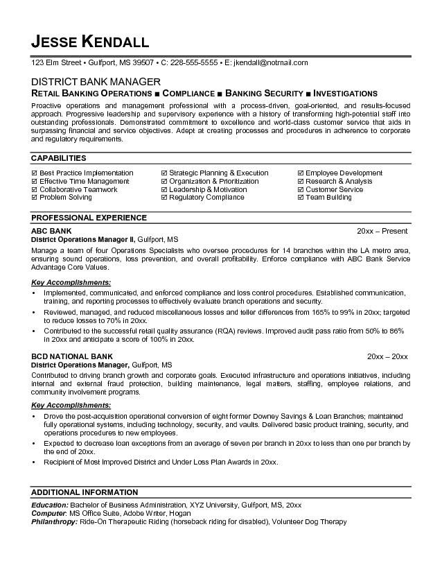 with banking resume examples format professional template tally experience devry indesign Resume Professional Banking Resume Template