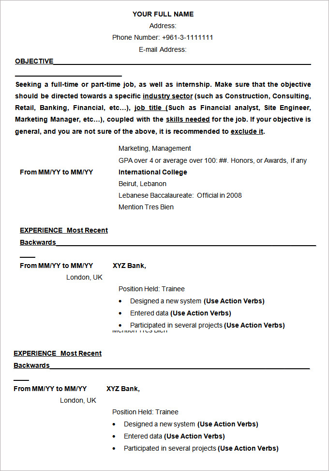 with cv samples formats resume format and examples microsoft word template route free Resume Resume Format And Examples