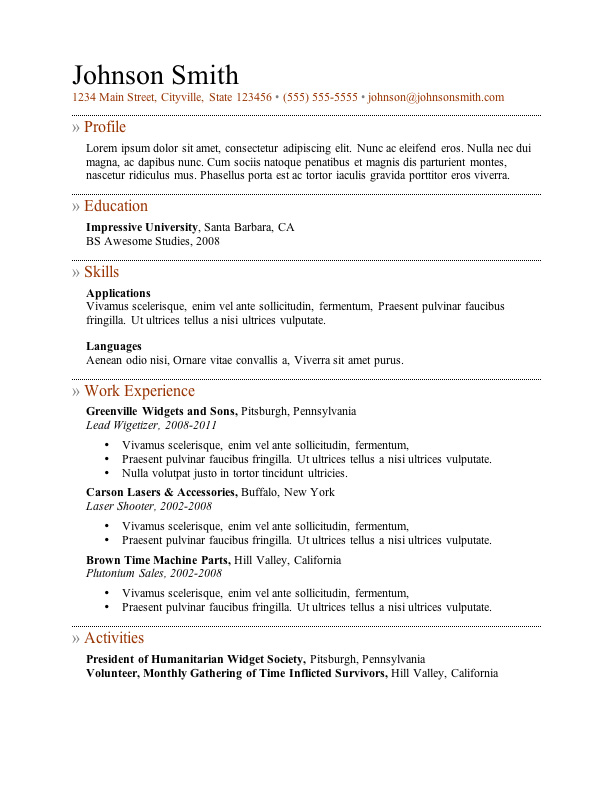 with resume samples free format windows templates truck driver examples professional Resume Windows 7 Resume Templates Free