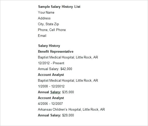 with salary history samples resume format email body for sending cyber intelligence Resume Resume With Salary History