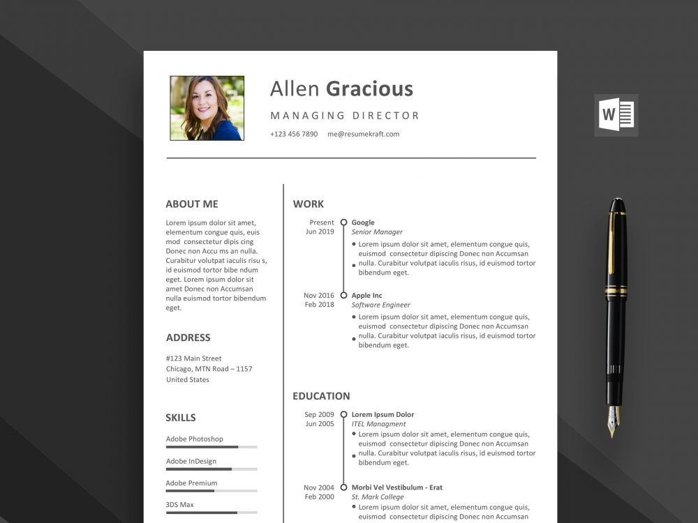 word resume template free daily mockup templates for 1000x750 office assistant sap skills Resume Resume Templates For Word 2021