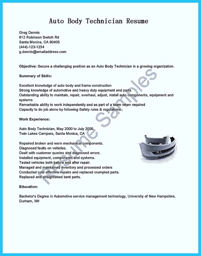 writing concise auto technician resume body objective examples mechanic office Resume Auto Body Resume Objective Examples
