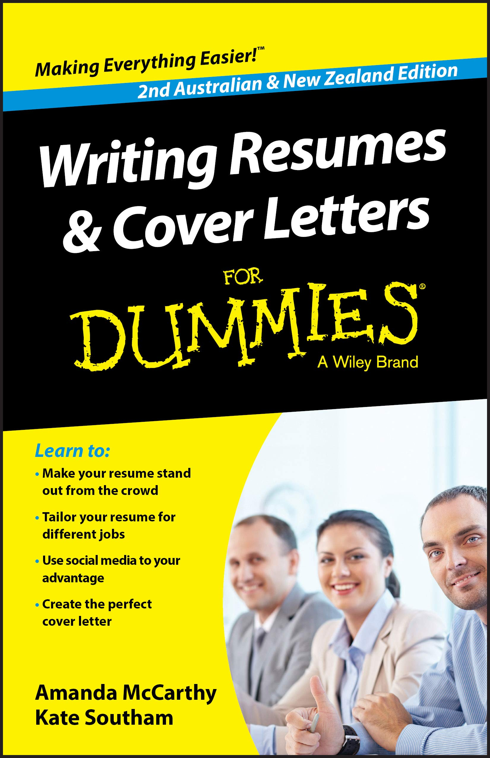 writing resumes and cover letters for dummies mccarthy amanda southam kate books best Resume Best Books For Resume And Cover Letter Writing
