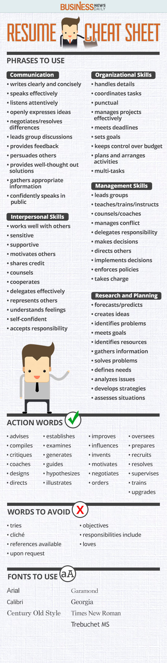 your resume cheat sheet writing guide businessnewsdaily another word for ability on Resume Another Word For Ability On Resume