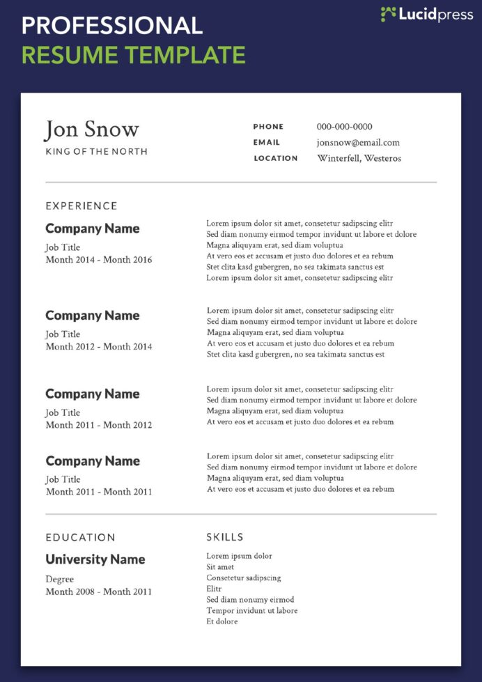 your resume formats guide for lucidpress best layout professional template when does the Resume Best Resume Layout 2019