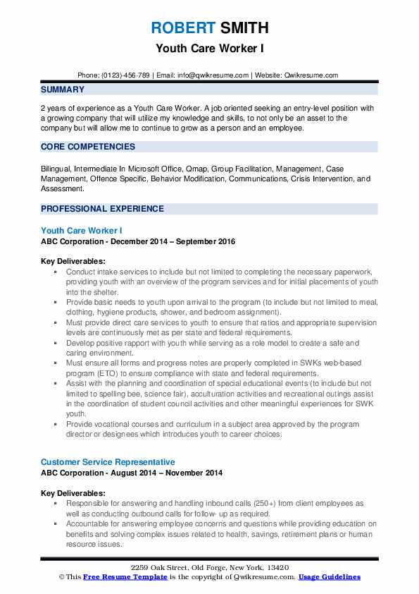 youth care worker resume samples qwikresume objective for pdf including education on Resume Resume Objective For Youth Worker