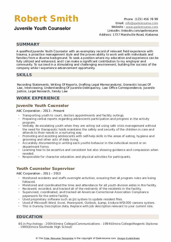 youth counselor resume samples qwikresume teenage objective examples pdf stage crew Resume Teenage Resume Objective Examples