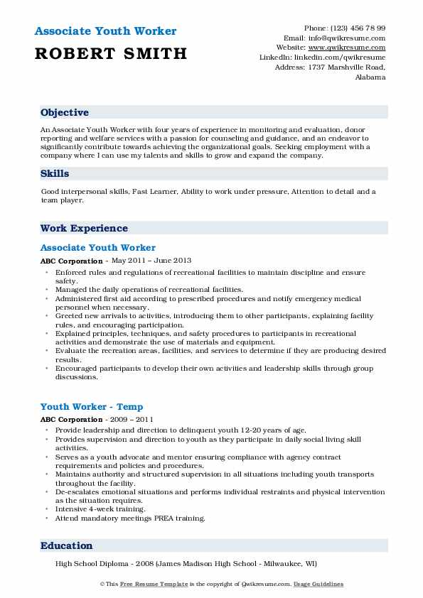 youth worker resume samples qwikresume experience working with pdf lead bartender one on Resume Experience Working With Youth Resume