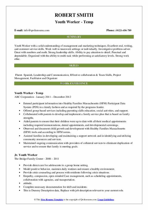 youth worker resume samples qwikresume objective for pdf interpersonal skills bloomberg Resume Resume Objective For Youth Worker