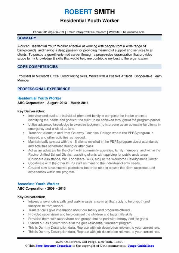 youth worker resume samples qwikresume objective for pdf interpersonal skills sample Resume Resume Objective For Youth Worker