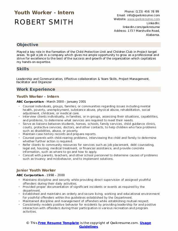youth worker resume samples qwikresume objective for pdf warrant officer entry level Resume Resume Objective For Youth Worker