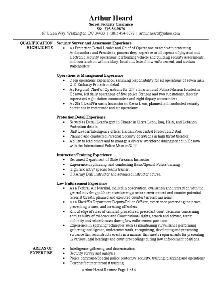 armed security resume objective october protection officer sample executive samples nerd Resume Protection Officer Resume Sample