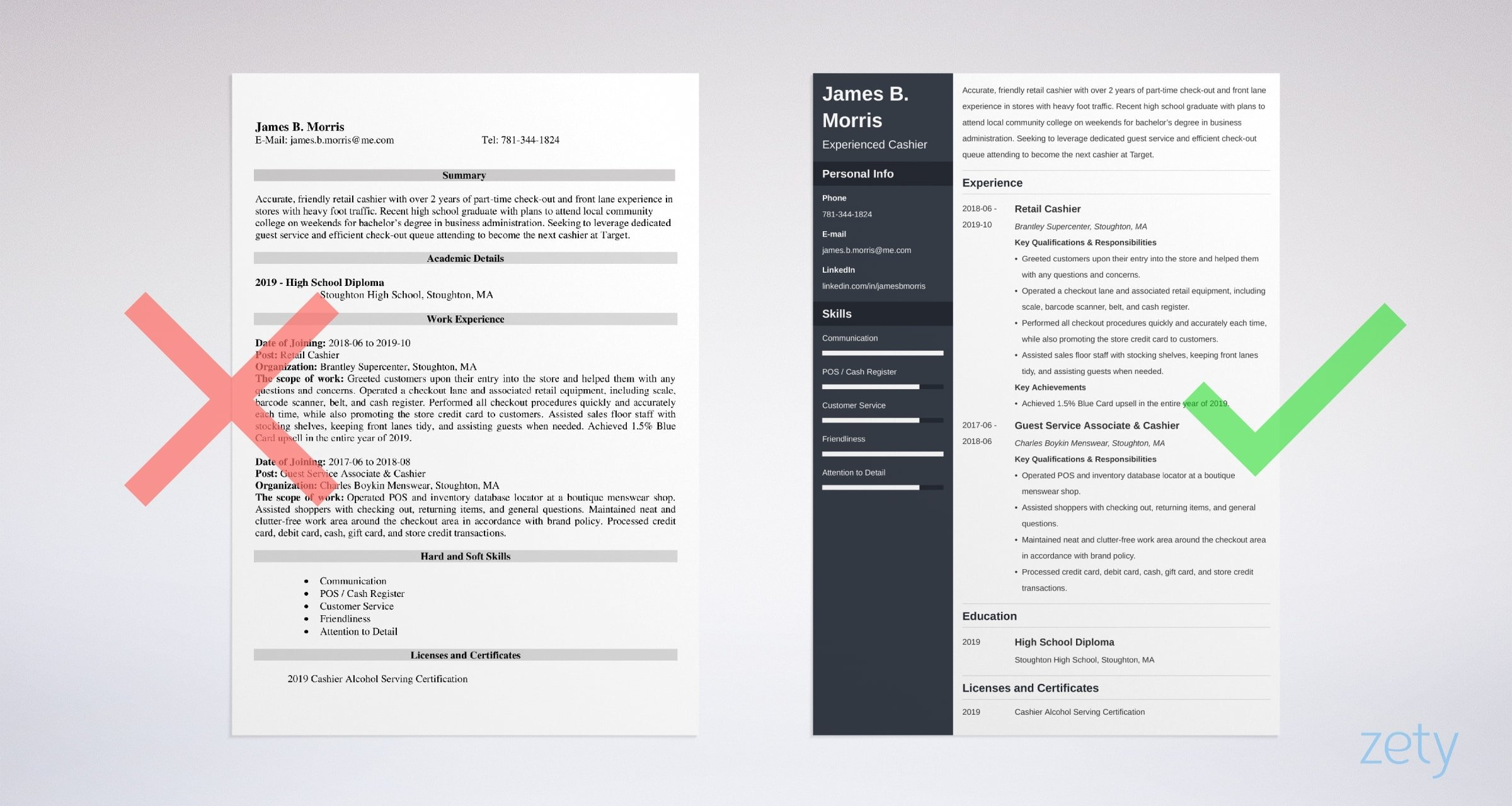 cashier resume examples sample with skills tips service cna qualifications bld master of Resume Service Cashier Resume Sample
