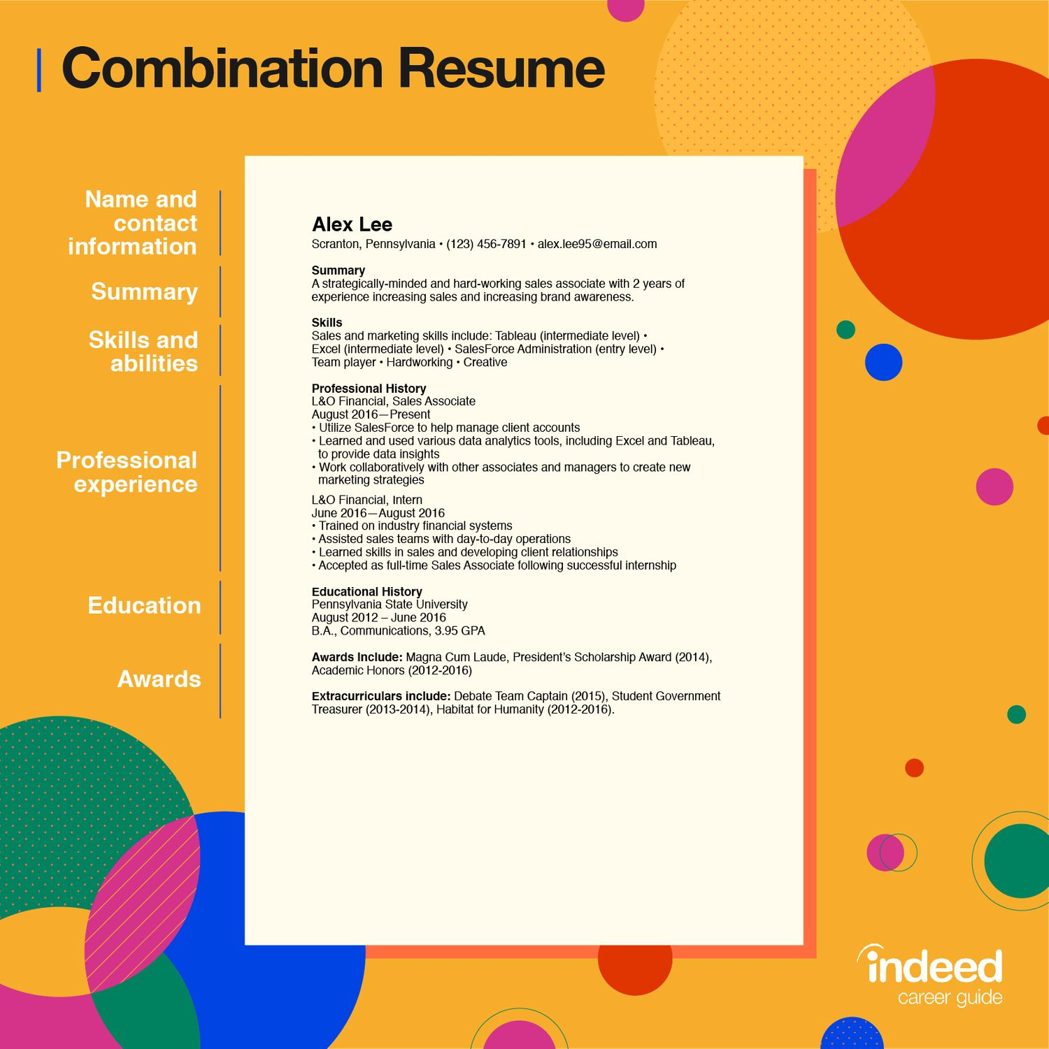 combination resume tips and examples indeedcom simple objective in sample resized Resume Simple Objective In Resume Sample