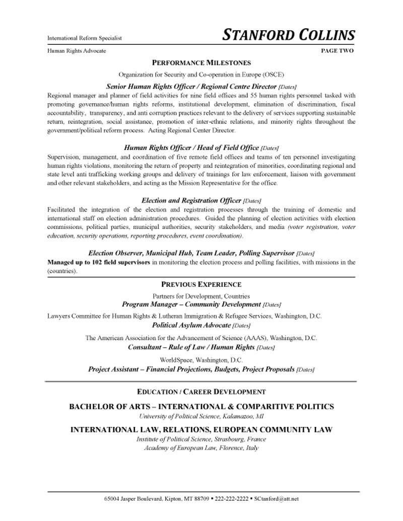 diplomatic policy consultant resume advocate sample about writing certification section Resume Policy Advocate Resume Sample