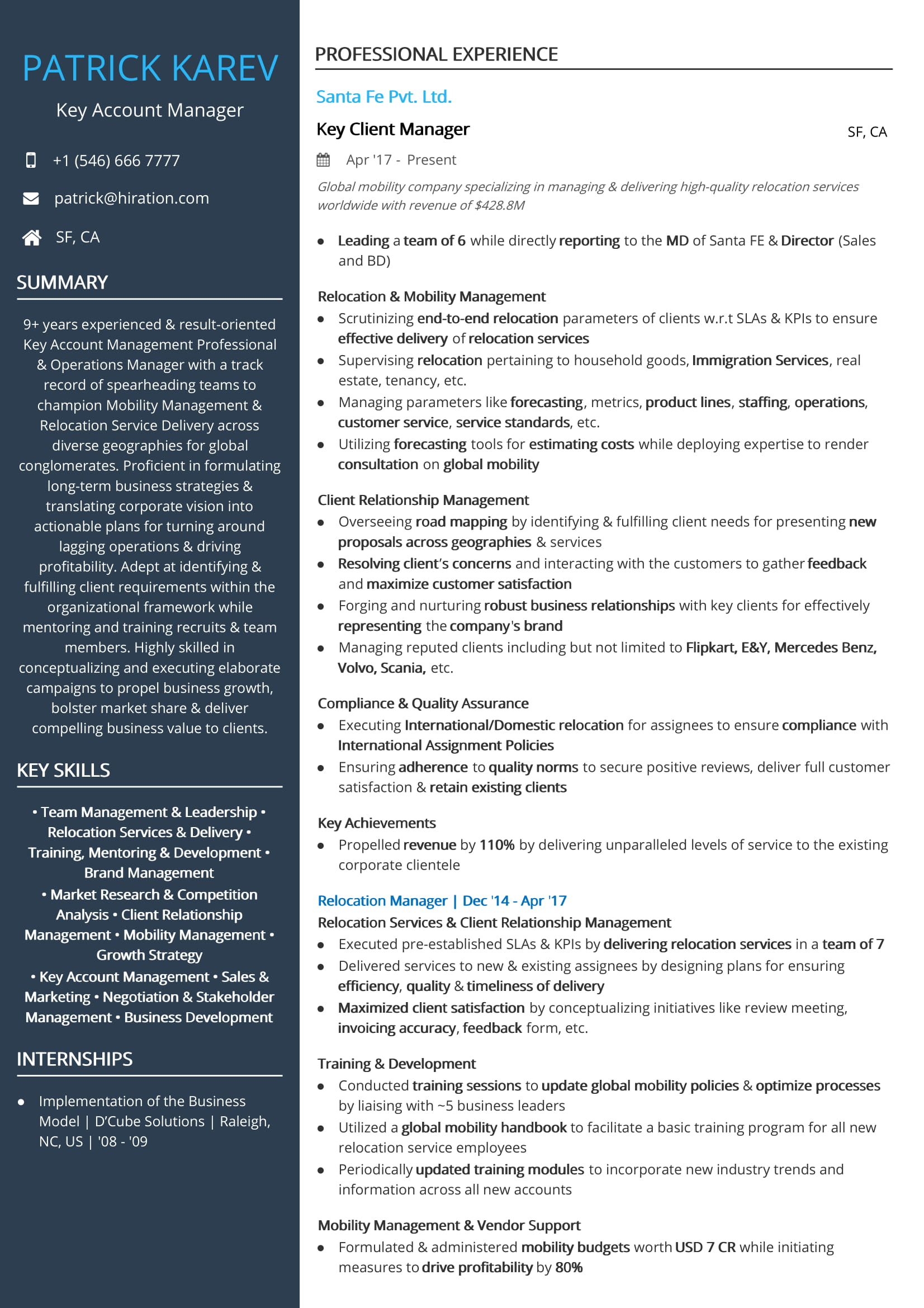 free account manager resume sample by hiration corporate relationship front desk agent Resume Corporate Relationship Manager Resume Sample
