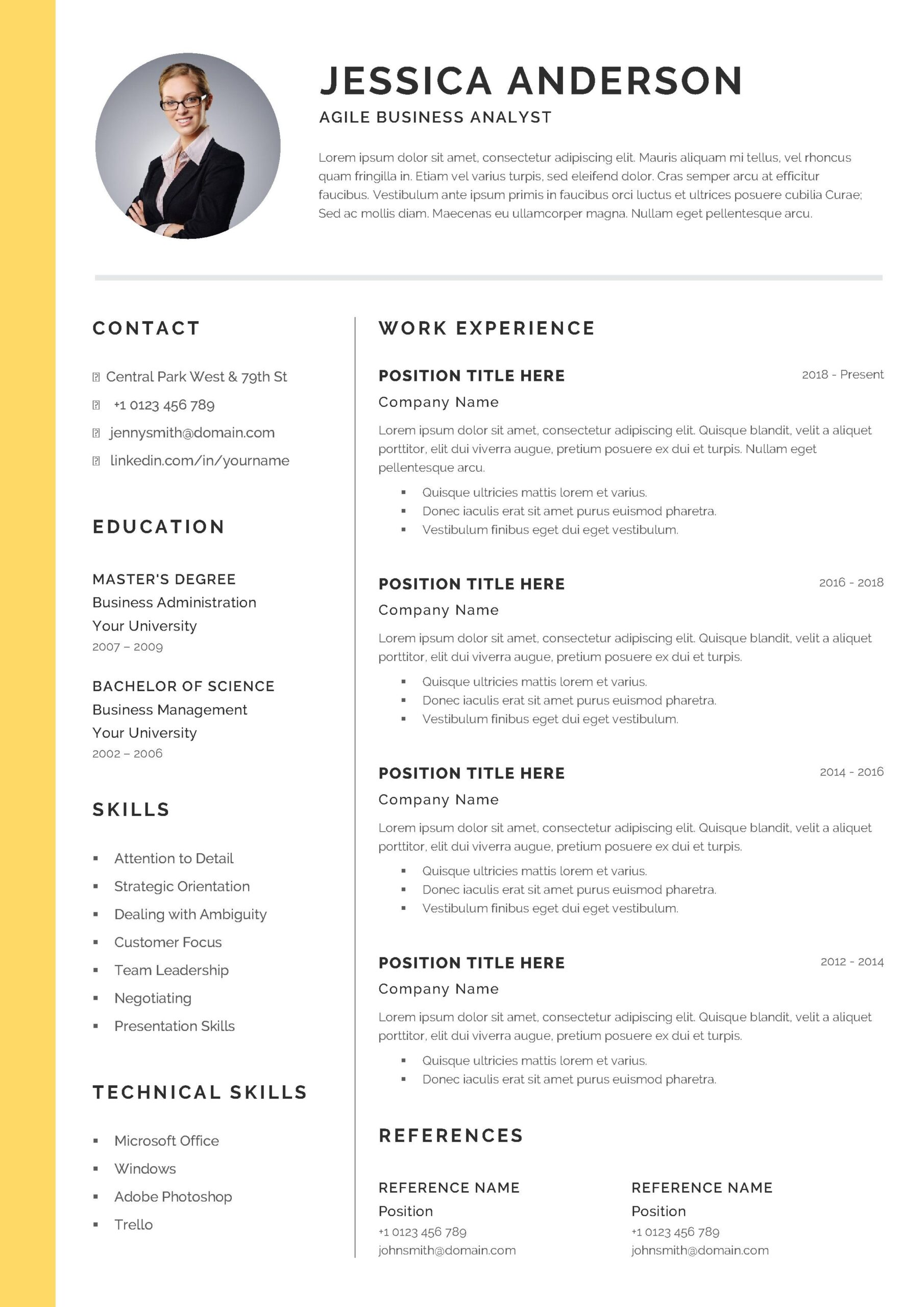 free agile business analyst cv resume template sample firefighter promotion best services Resume Business Analyst Agile Resume Sample
